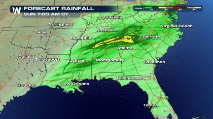 A Soggy Saturday In The Southeast