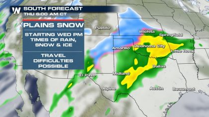 Thanksgiving Storm For The Southern Plains