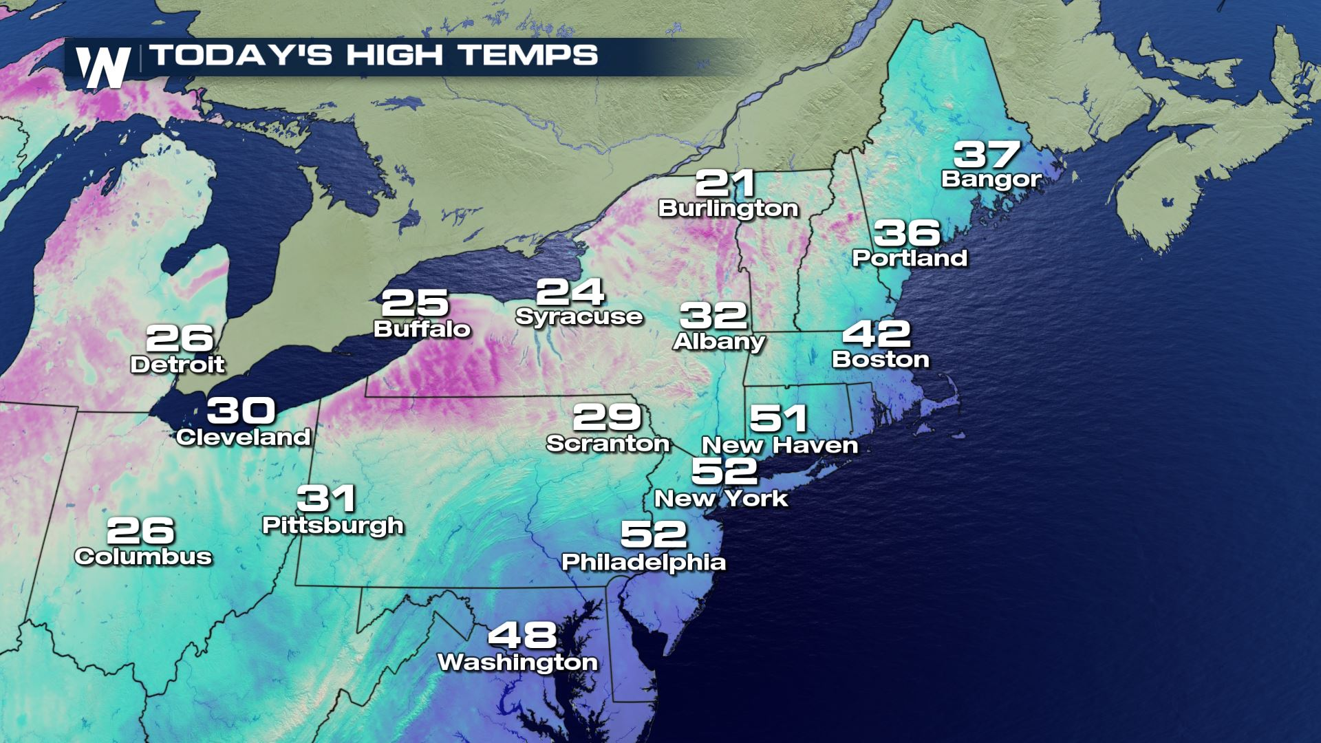 Snow and Cold Continues for the Northeast