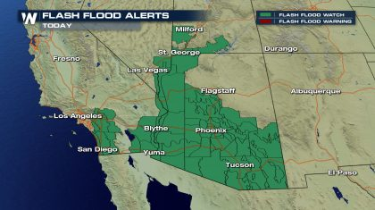 Flash Flooding Threat Continues in the Southwest