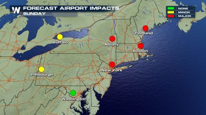 Northeast Travel Impacts This Weekend