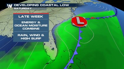Possible Coastal Low to Develop Late This Week