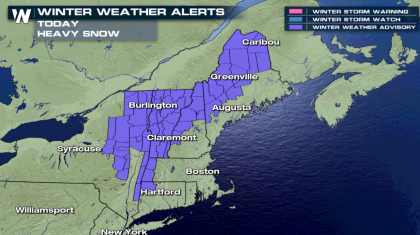 Snowfall Continues in the Northeast
