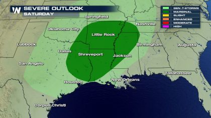 Potent System Brings Saturday Severe Chance