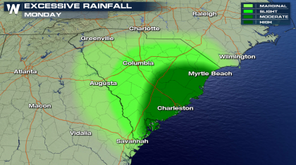 Heavy Rain Continues for the Southeast