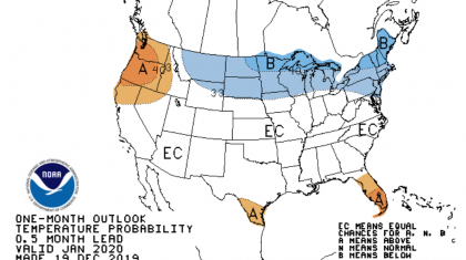 January Forecast from the Climate Prediction Center