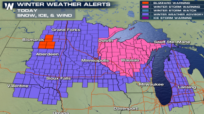 Major Winter Storm Hitting the Upper Midwest