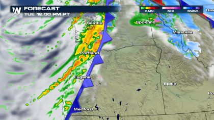 Isolated Strong Storms for the Northwest Tuesday