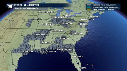Several States are Dealing with Dense Fog Wednesday Morning