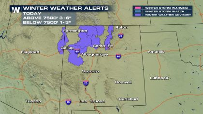 Winter Weather Advisories Across Northern New Mexico Tuesday
