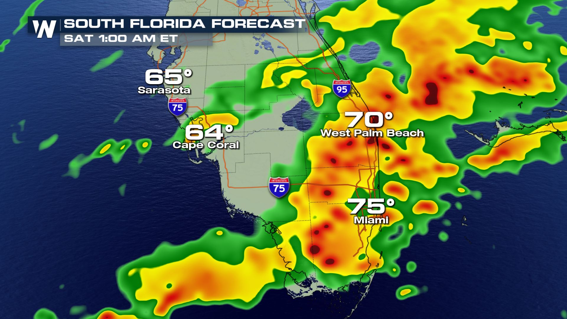 Florida State Weather Map Severe weather possible in South Florida leading up to Sunday's