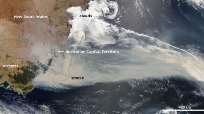 Catastrophic Wildfires in Southeastern Australia