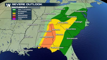 Severe Weather Continues for the Southeast