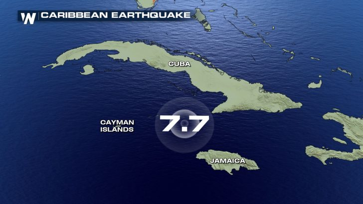 Major earthquake strikes Caribbean