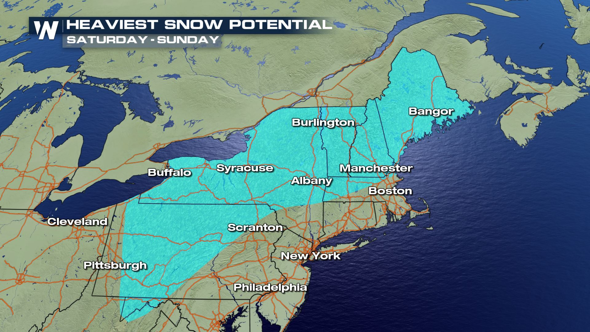 Rain, Ice, and Snow on the Way to the Northeast
