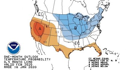 February Outlook from NOAA's Climate Prediction Center