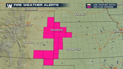 Dangerous Fire Weather Threat for the Plains Sunday