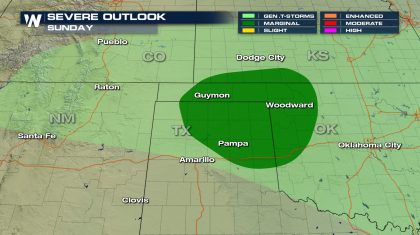 Severe Risk Sunday for the Texas and Oklahoma Panhandles