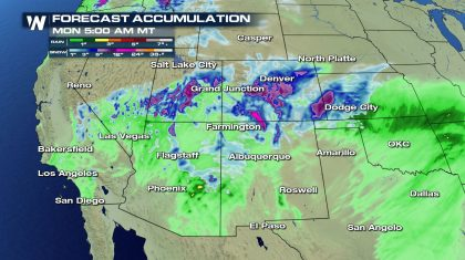 Potential for Flooding in the Southwest with Heavy Snow Continues