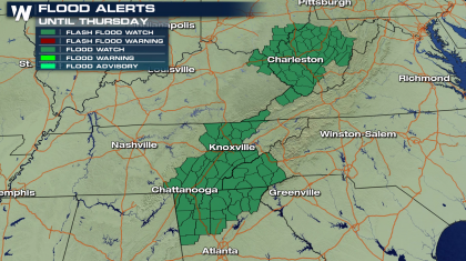 Flooding Rains in the Tennessee Valley