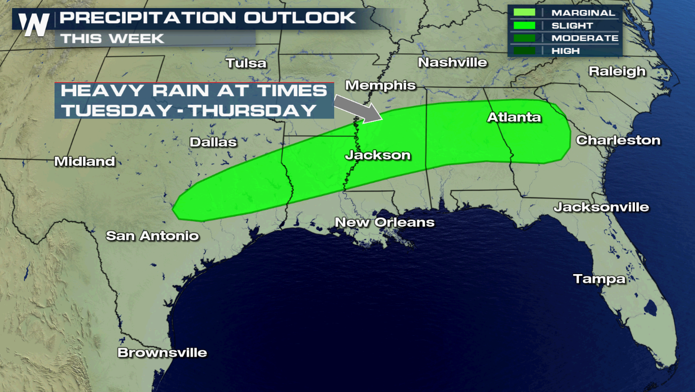 More Heavy Rain Possible in Southeast This Week
