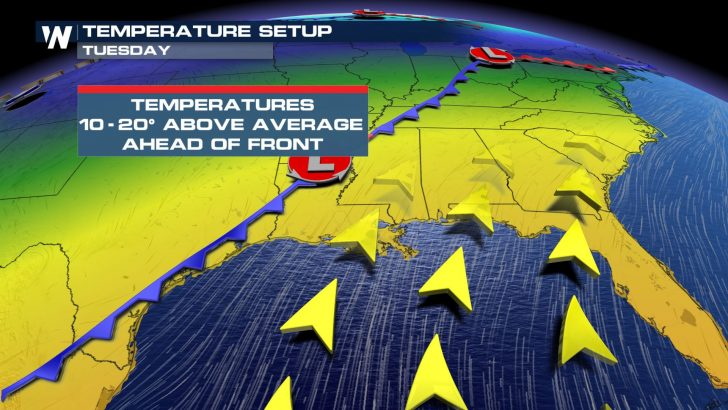 Warm-up Pushes East This Weekend; Temps 10-20 Degrees Above Average