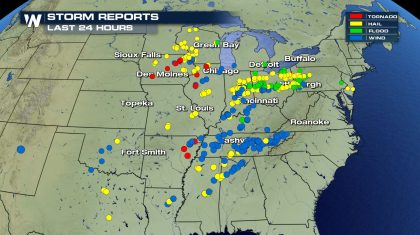 Busiest severe weather day in 2+ months