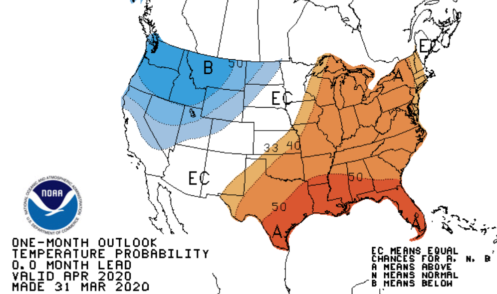 Updated April Outlook: Mild and Wet