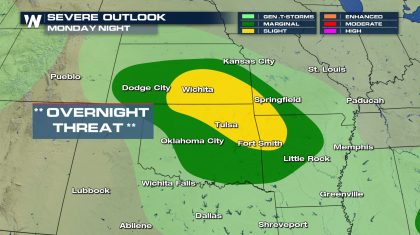Severe Storms Possible to Begin the Week (UPDATE)