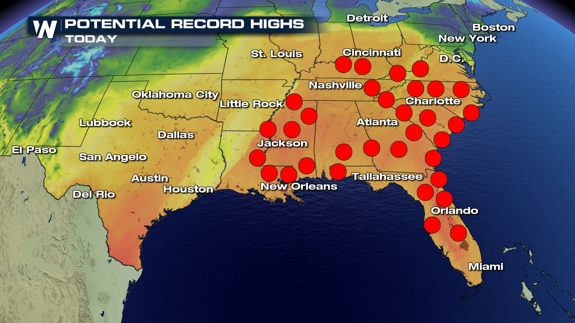 Temperatures Soar in the Southern U.S.
