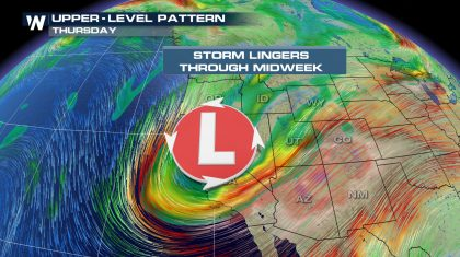A Stormy Pattern Sets in for the West