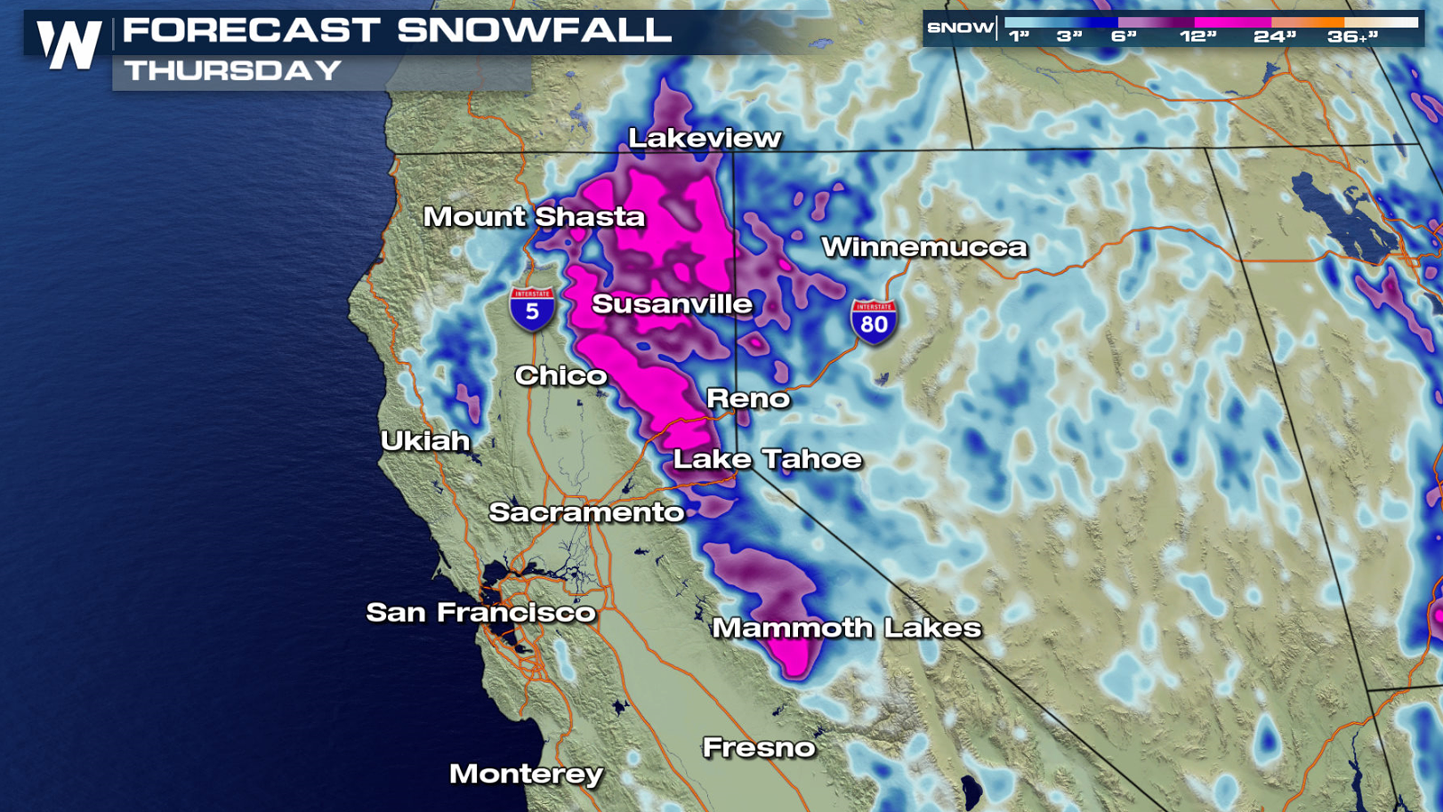 Heavy Snow Is Unloading On California
