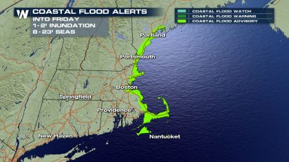 New England Storm Brings Coastal Flooding and Dangerous Seas