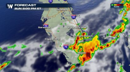 Isolated Severe Risk for South Florida Sunday