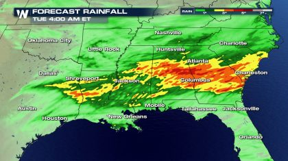 Flash Flooding Likely To Accompany Storms