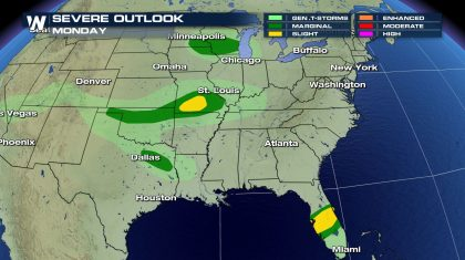 Monday's Severe Weather Threat