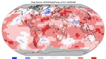 NOAA: March 2020 Was Earth's 2nd-Warmest March On Record