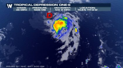 First Tropical Depression in 2020 in Eastern Pacific