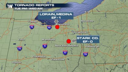Tornadoes Strike Northeast Ohio Tuesday Night