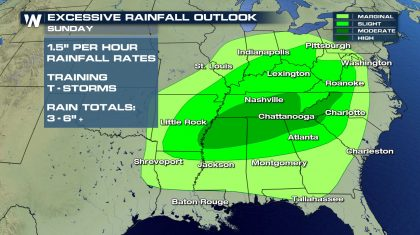 Flash Flooding Threat in the Southeast Over the Weekend
