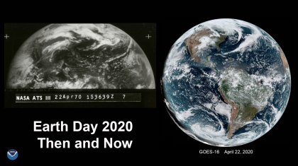 A Satellite Look Back at 50 Years of Earth Day