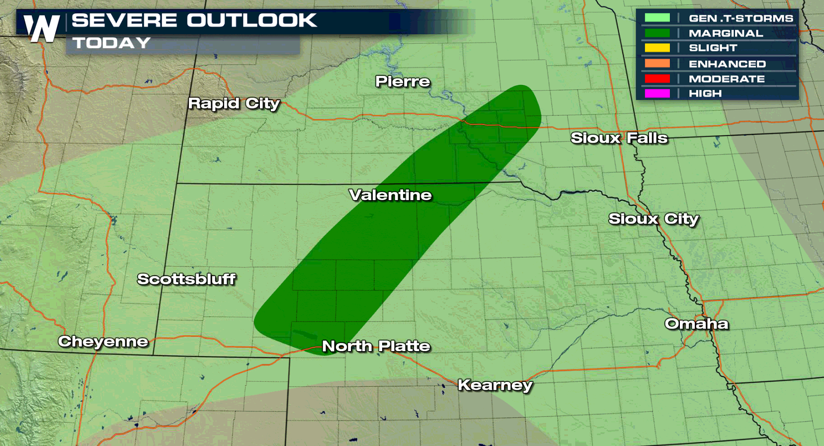Severe Thunderstorms Possible in the Plains