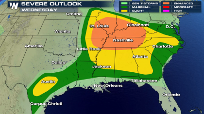 Severe Threat in the Mississippi and Tennessee Valleys