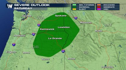 Severe Storms, Heavy Rain, and Snow Possible in the Northwest