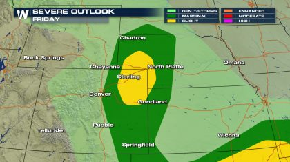 Friday Severe Storms Off the Rockies