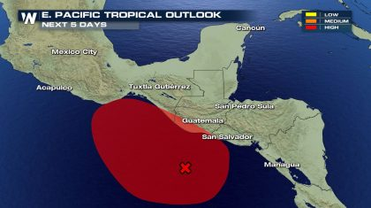 Watching the Tropics: Eastern Pacific Low Has Good Chance to Develop