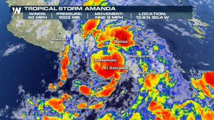 Tropical Storm Amanda Forms