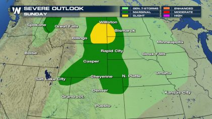 Severe Storms Threaten the High Plains & Midwest