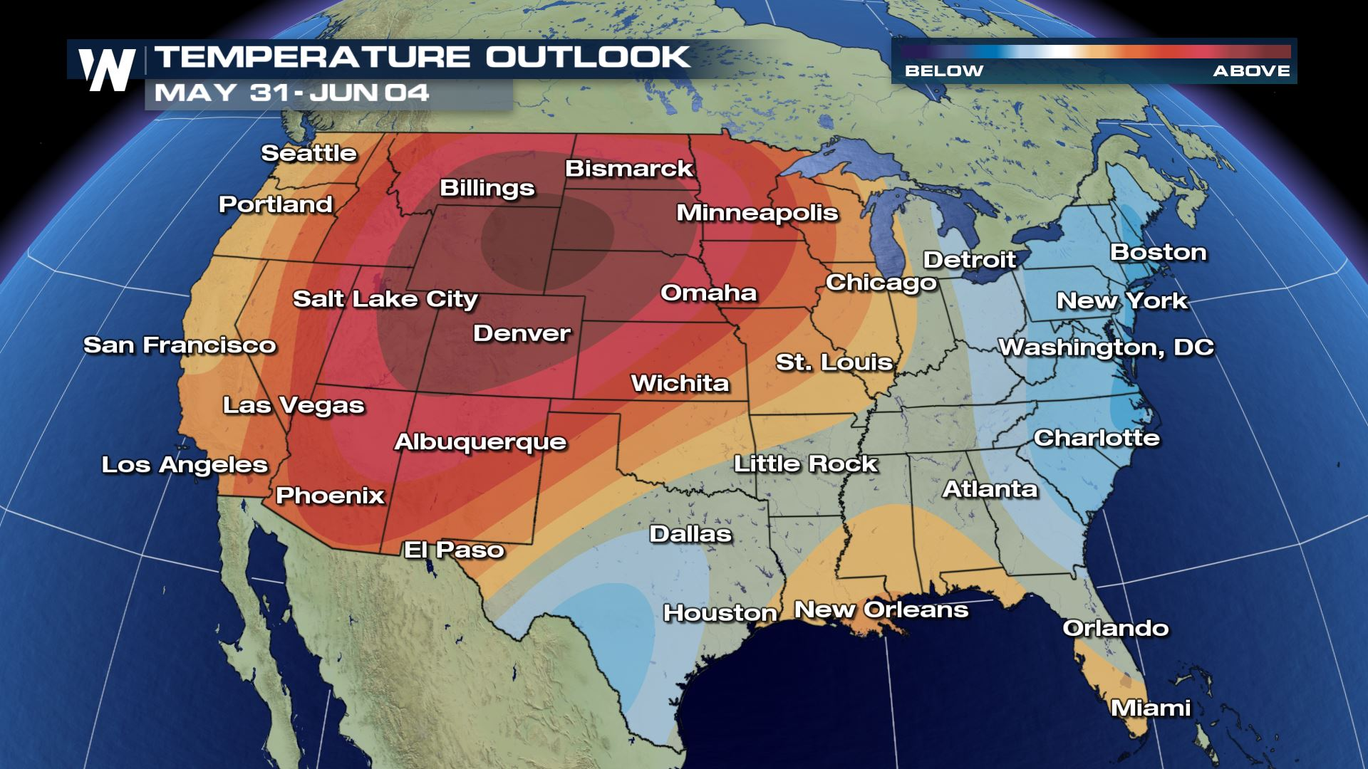 Us Weather Map This Weekend Heat Wave For Much Of U.S. Next Week?   WeatherNation