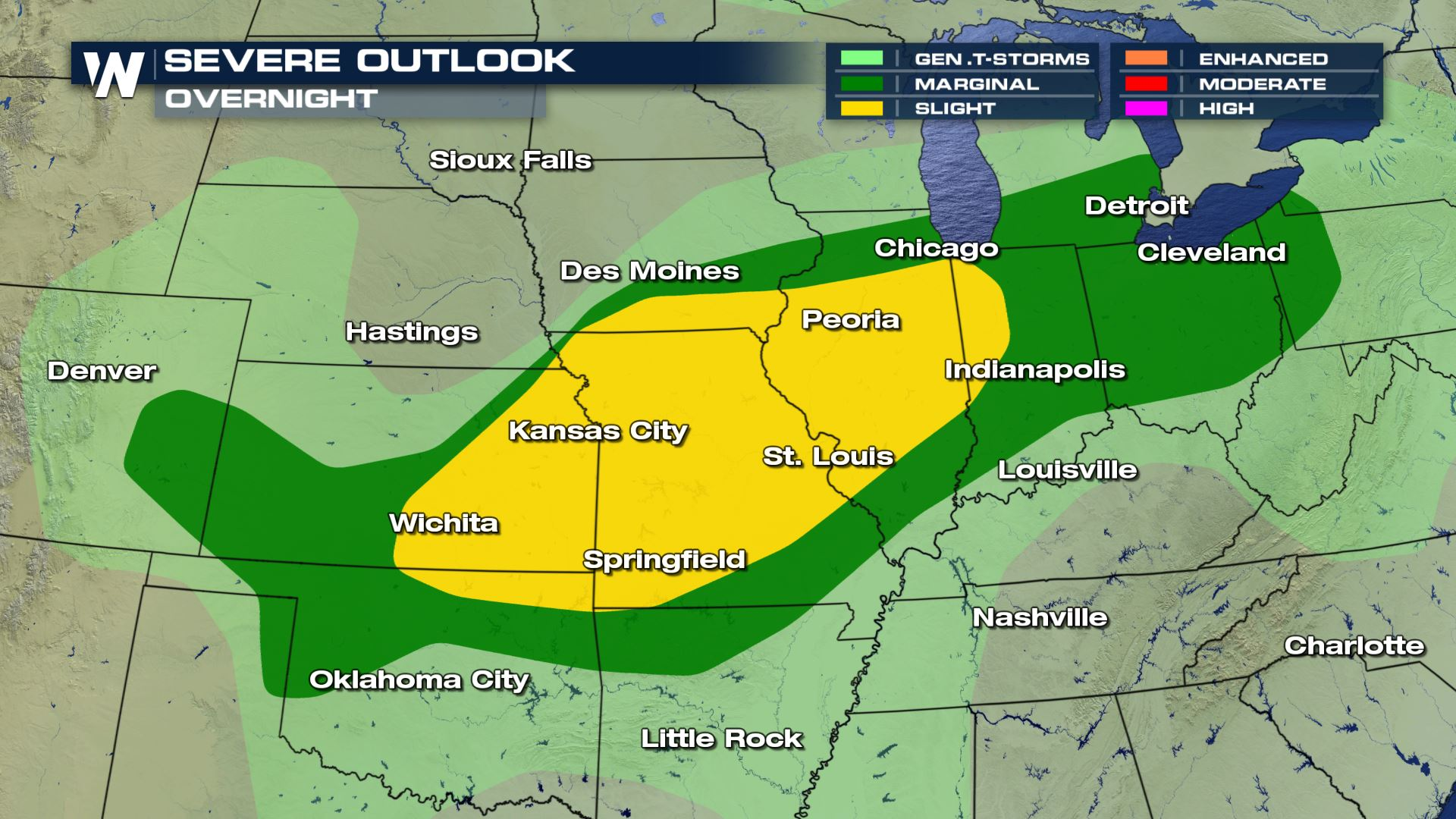 Overnight Severe Weather Possible in the Plains